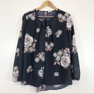 Japna Pink and Black Blouse Size Small